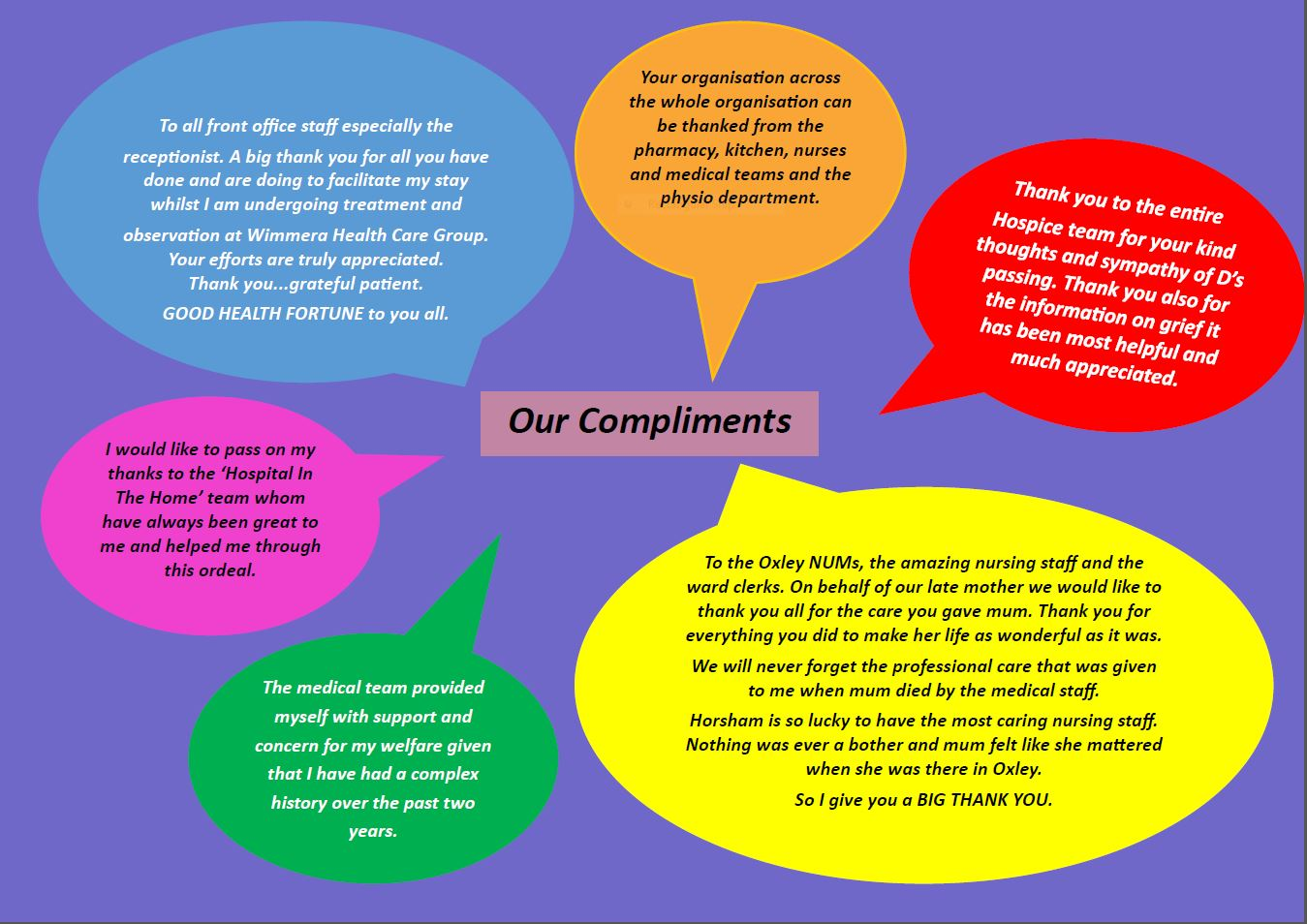 Our Compliments